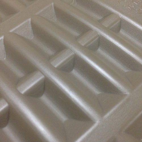 プラスチック製湯たんぽ表面の拡大図